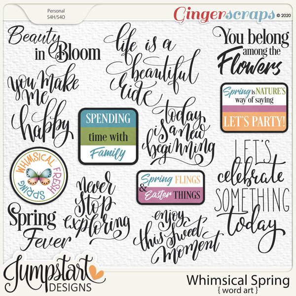 Whimsical Spring {Word Art} by Jumpstart Designs