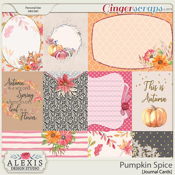 Pumpkin Spice - Journal Cards