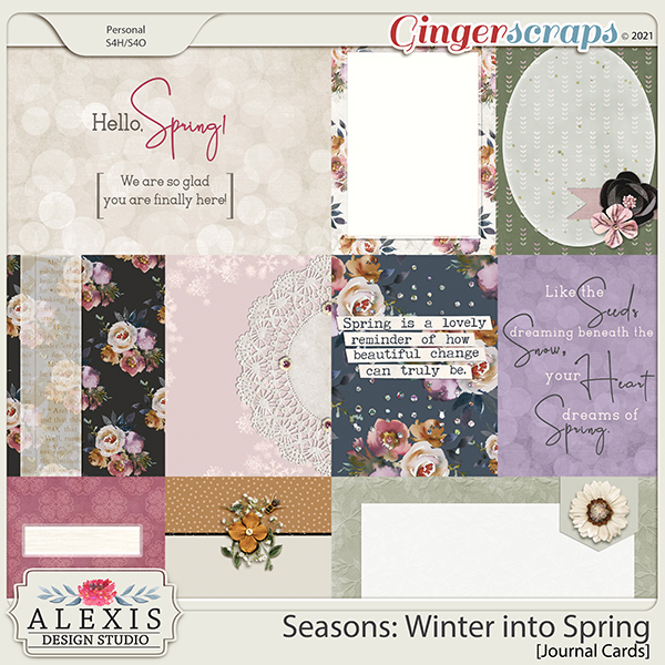 Seasons: Winter into Spring - Journal Cards
