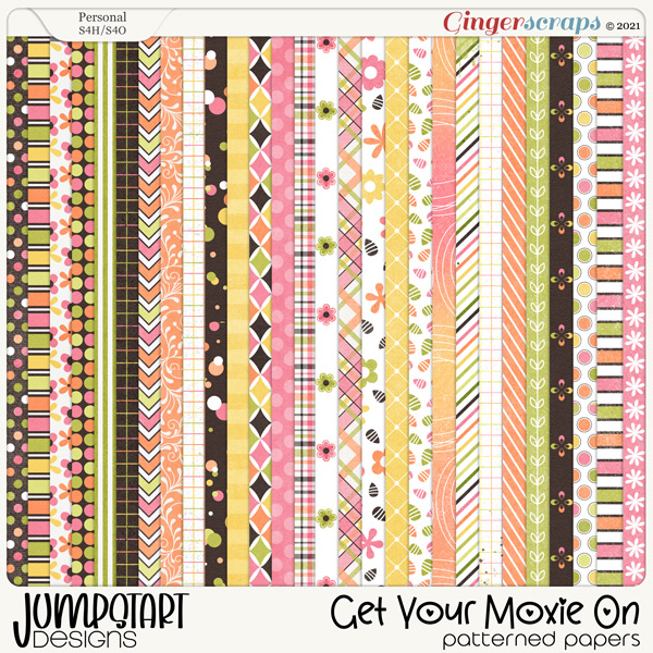 Get Your Moxie On {Patterned Papers}