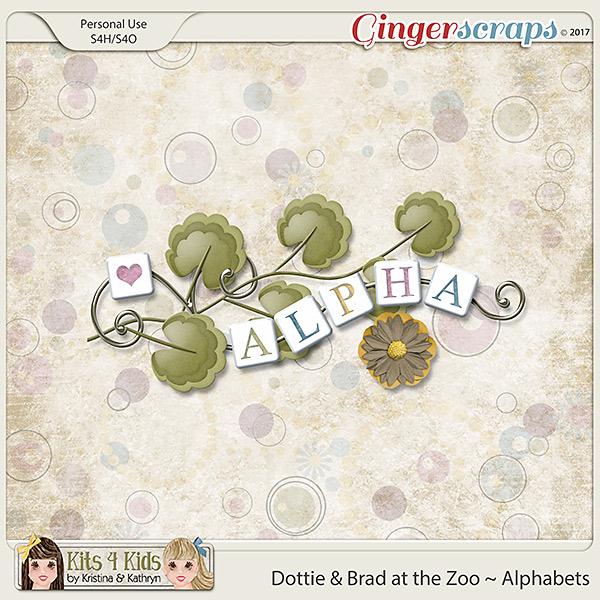 Dottie & Brad at the Zoo Alphabets by K4K