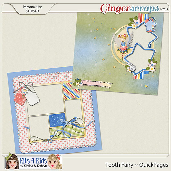 Tooth Fairy QuickPages by K4K