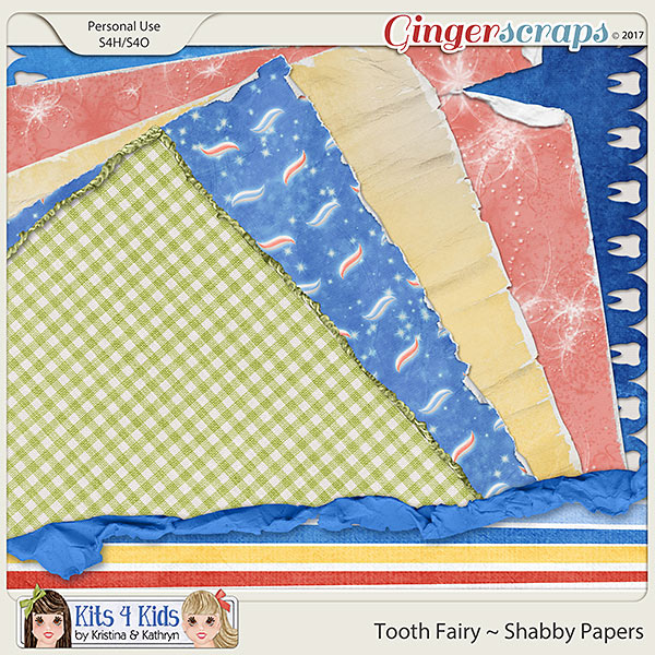 Tooth Fairy Shabby Papers by K4K