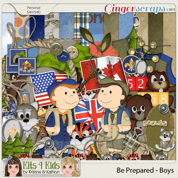 Be Prepared Boys Page Kit by K4K