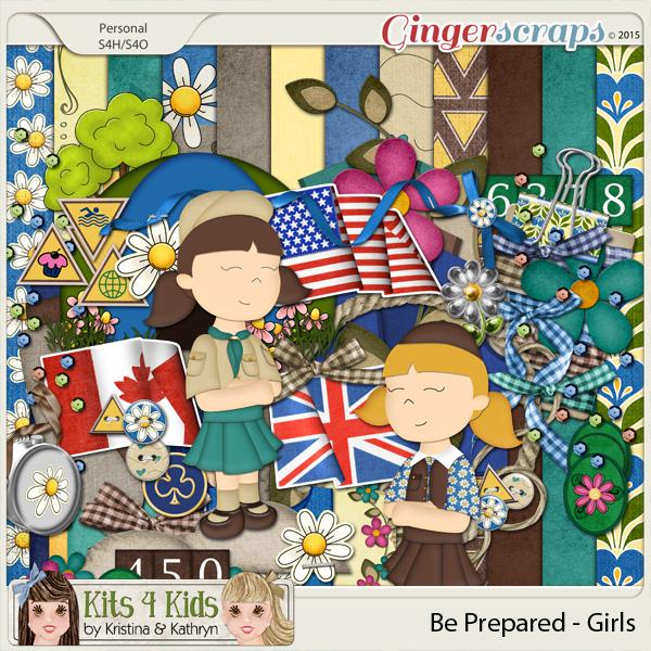 Be Prepared Girls Page Kit by K4K
