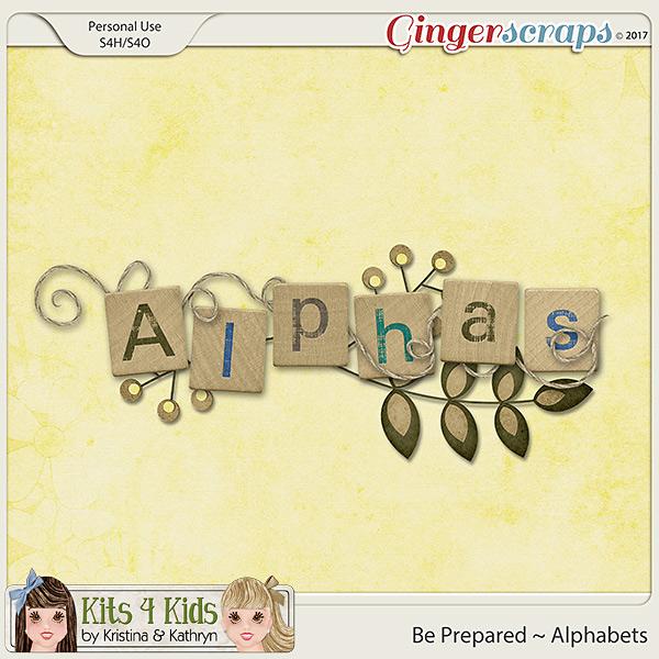 Be Prepared Alphabets by K4K