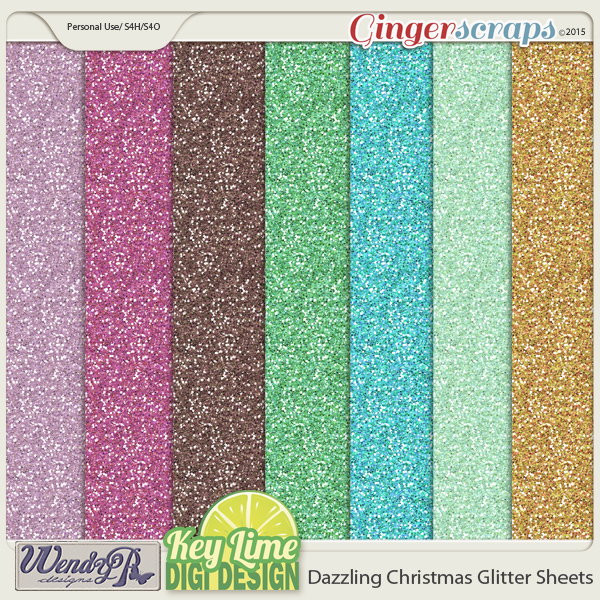 Dazzling Christmas Glitter SHeets