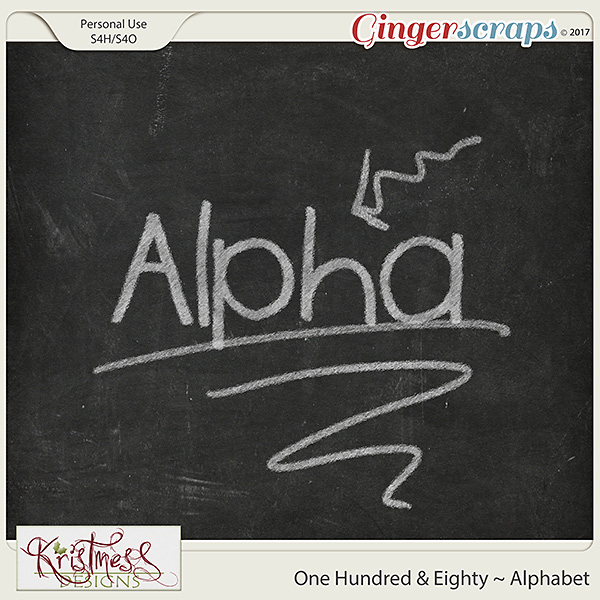 One Hundred & Eighty Alphabet
