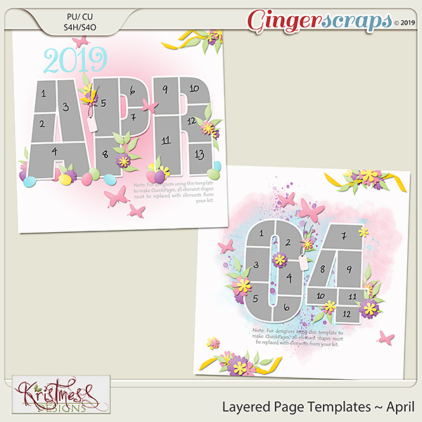 Layered Page Templates ~ April