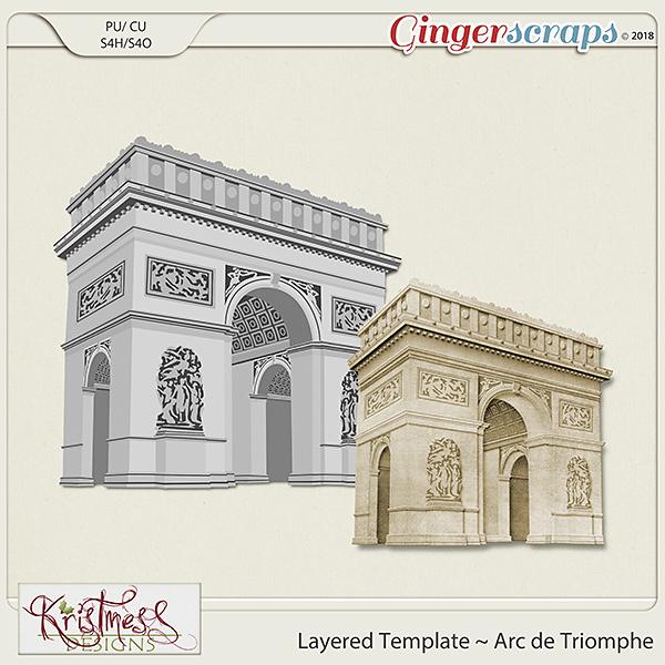 CU Arc de Triomphe Layered Template