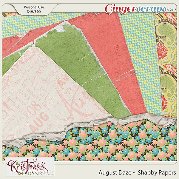 August Daze Shabby Papers