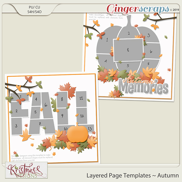 Layered Page Templates ~ Autumn
