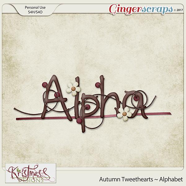 Autumn Tweethearts Alphabet