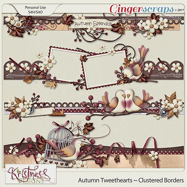 Autumn Tweethearts Clustered Borders
