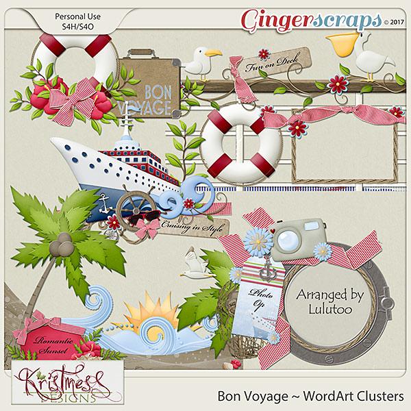 Bon Voyage WordArt Clusters