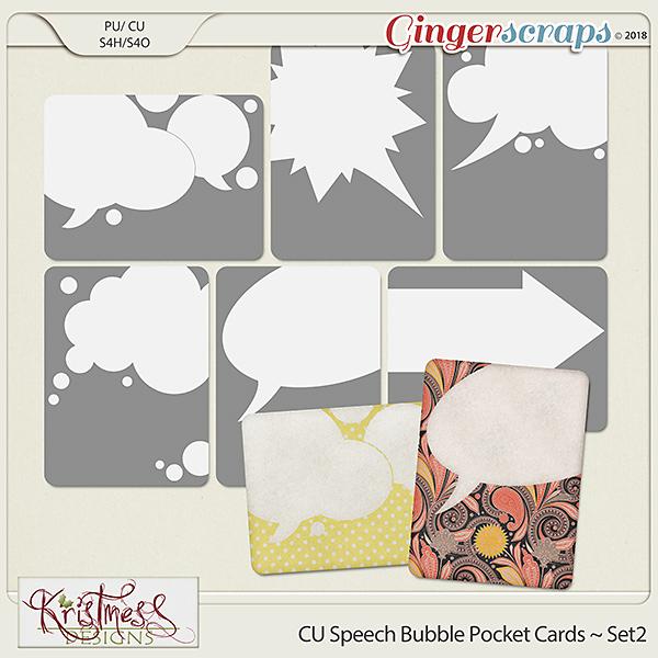 CU Speech Bubble Pocket Card Templates Set2