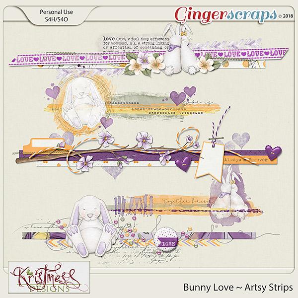 Bunny Love Artsy Strips