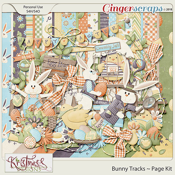 Bunny Tracks Page Kit