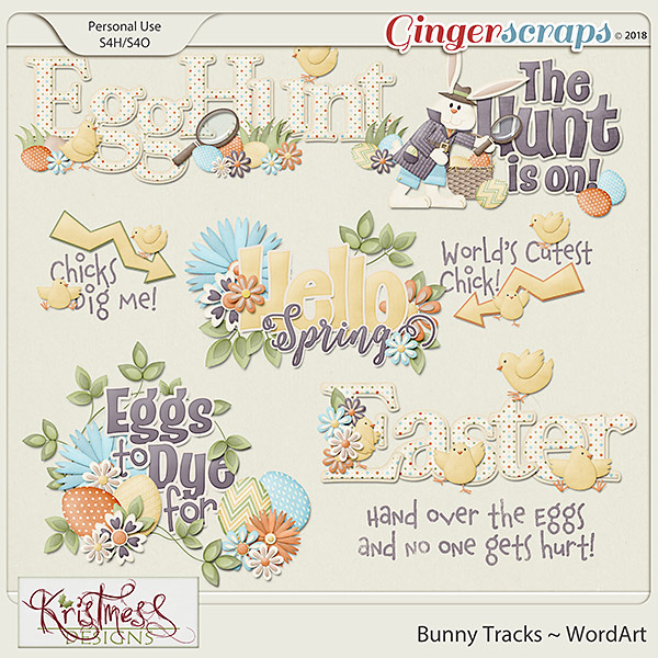 Bunny Tracks WordArt Clusters