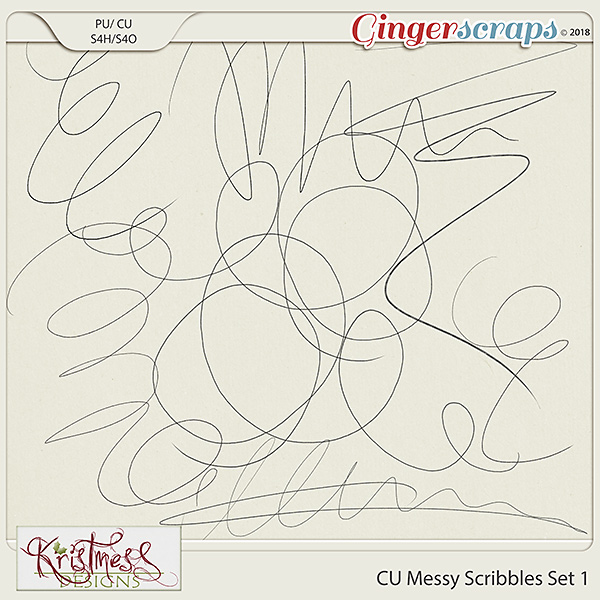 CU Messy Scribbles Set 1