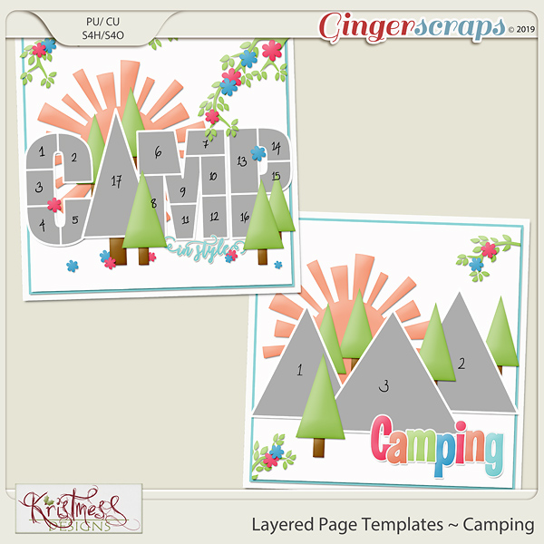 Layered Page Templates ~ Camping