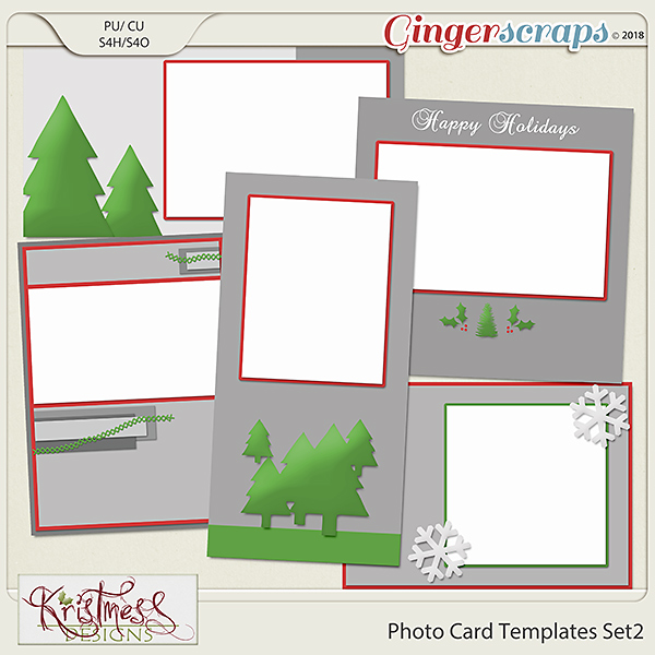 Photo Card Templates Set 2