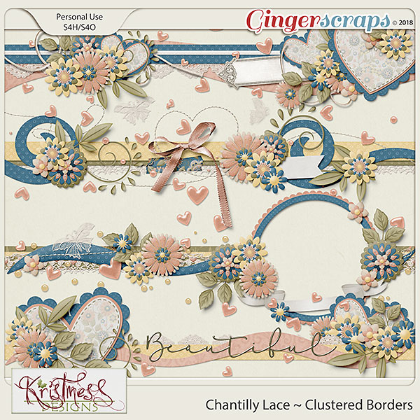 Chantilly Lace Clustered Borders