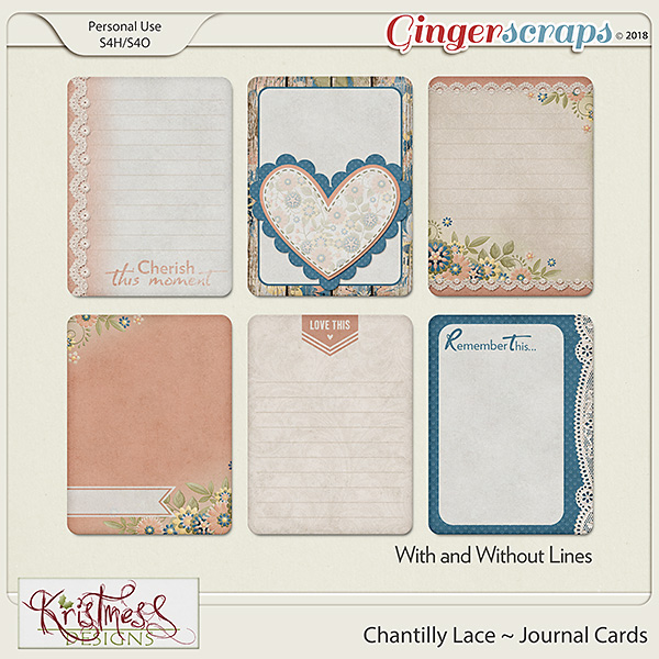 Chantilly Lace Journal Cards