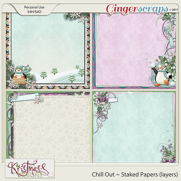 Chill Out Stacked Papers (Layers)