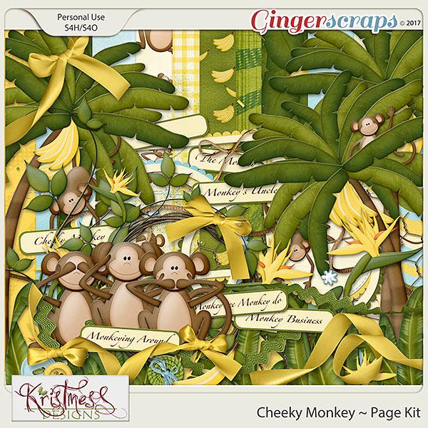 Cheeky Monkey Page Kit