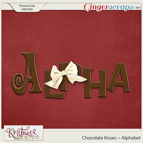 Chocolate Kisses Alphabet