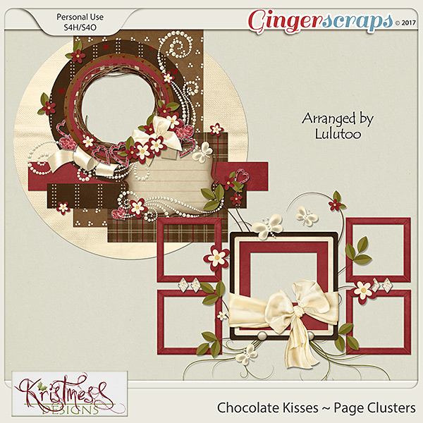 Chocolate Kisses Page Clusters
