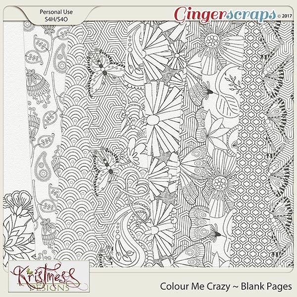 Colour Me Crazy Blank Pages