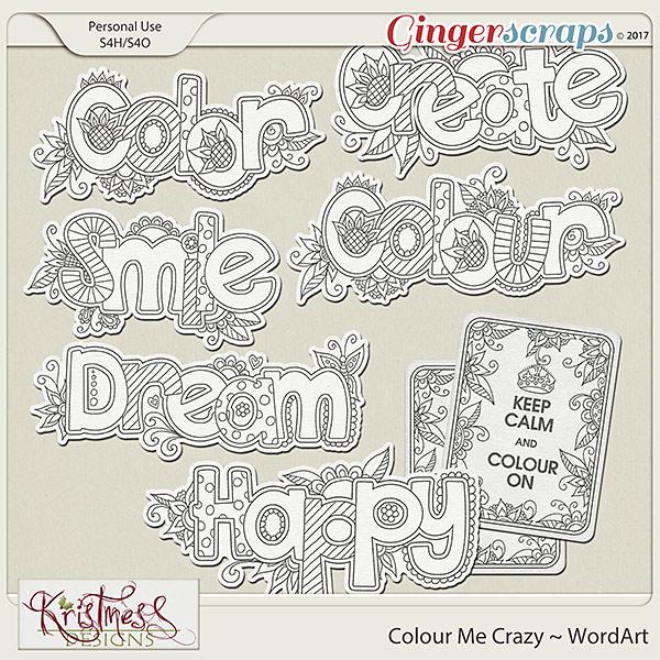 Colour Me Crazy WordArt