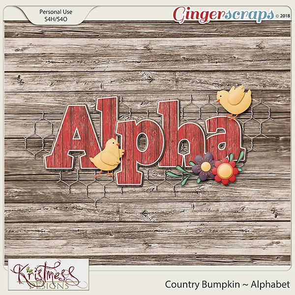 Country Bump Kin Boutique Home: GingerScraps :: Alphas :: Country Bumpkin Alphabet
