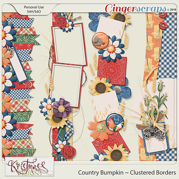 Country Bumpkin Clustered Borders