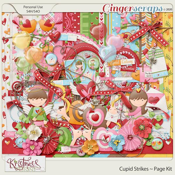 Cupid Strikes Page Kit
