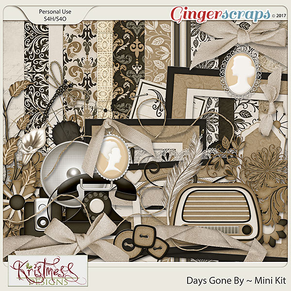 Days Gone By Page Kit