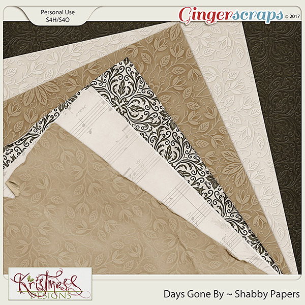 Days Gone By Shabby Papers