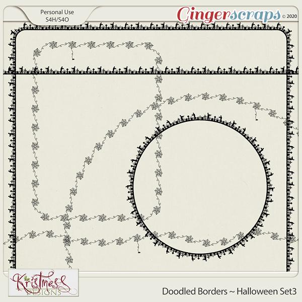 Doodled Borders ~ Halloween Set3