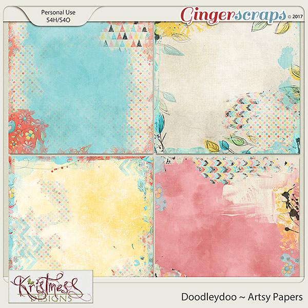 Doodleydoo Artsy Papers