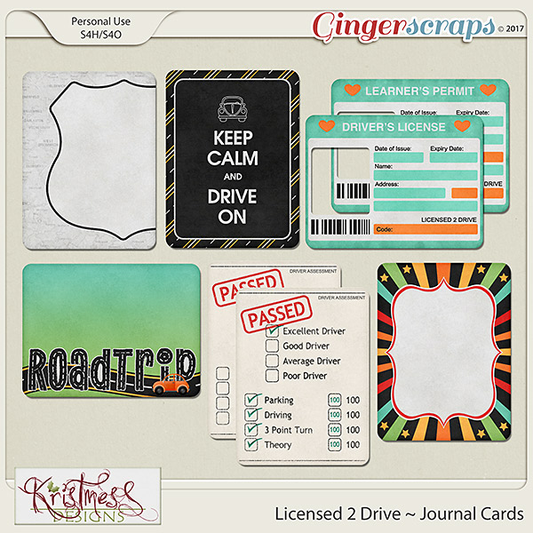 Licensed 2 Drive Journal Cards