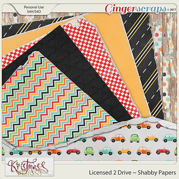 Licensed 2 Drive Shabby Papers
