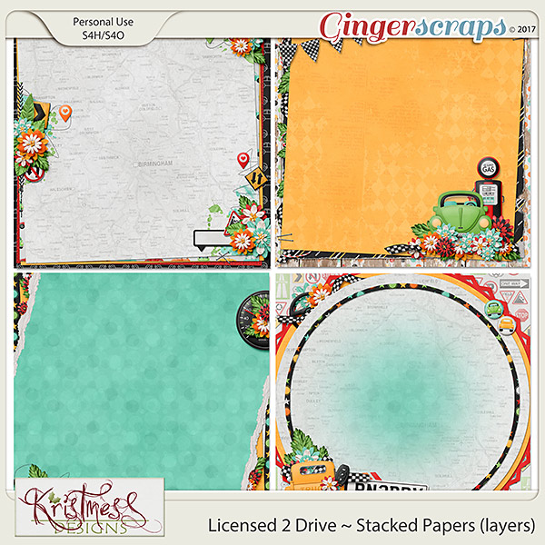 Licensed 2 Drive Stacked Papers (layers)