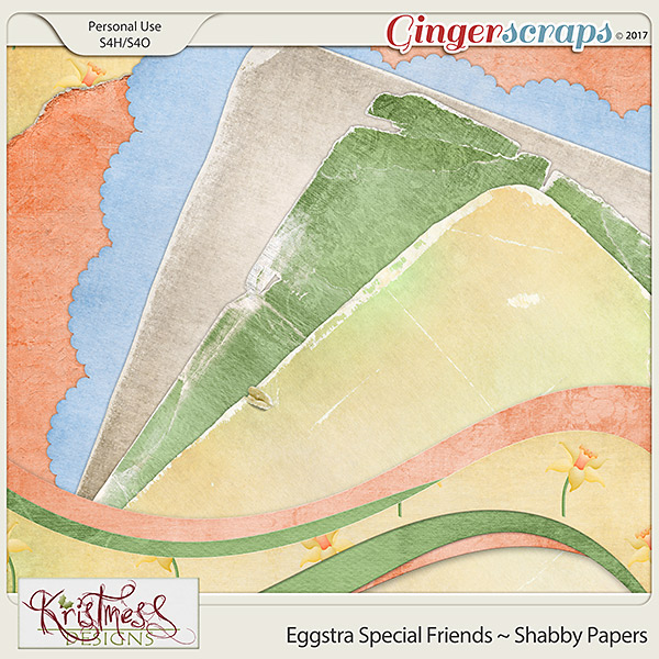 Eggstra Special Friends Shabby Papers