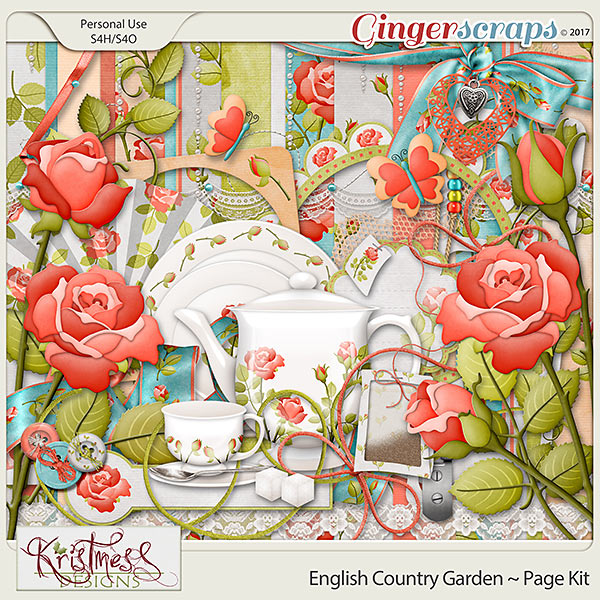 English Country Garden Page Kit
