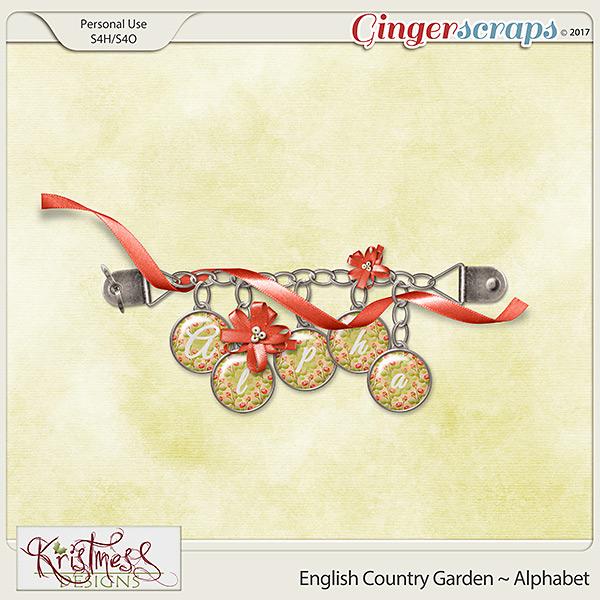 English Country Garden Alphabet