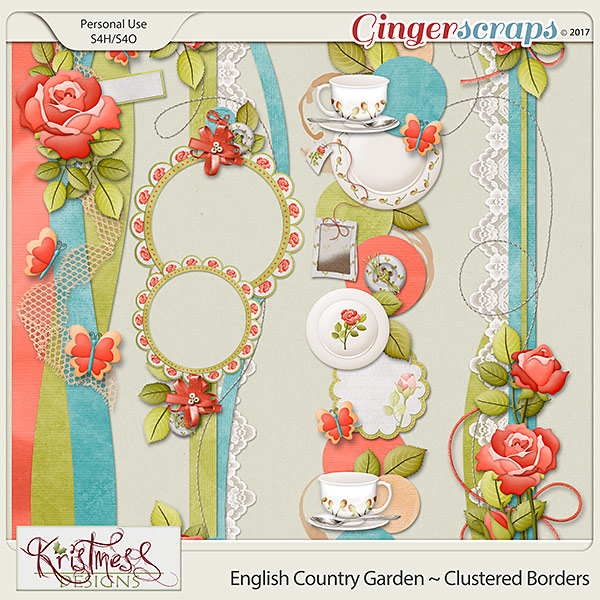 English Country Garden Clustered Borders
