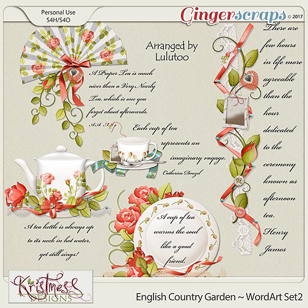 English Country Garden WordArt Set2