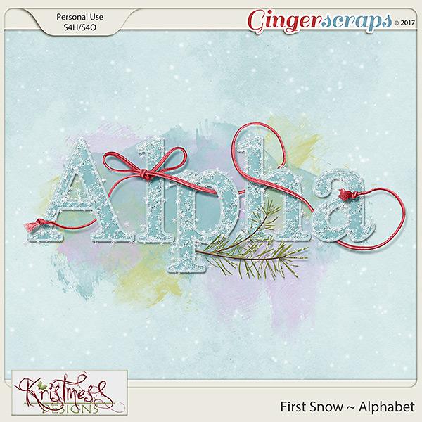 First Snow Alphabet